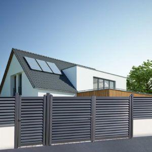 Brise-vue aluminium gamme Aluclin chez Brin de Jardins à Veigné 37