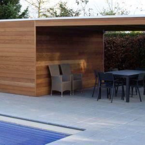Abri de jardin Box en bois et de style moderne chez Brin de Jardins à Esvres