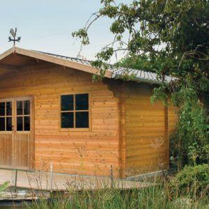 Abri de jardin Classic à emboitement en bois et de style traditionnel chez Brin de Jardins à Esvres