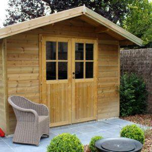 Abri de jardin Classic avec système alpha en bois et de style traditionnel chez Brin de Jardins à Esvres