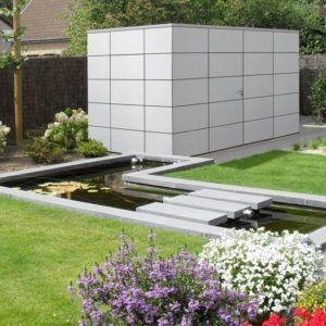 Abri de jardin Panama en composite style moderne chez Brin de Jardins à Esvres