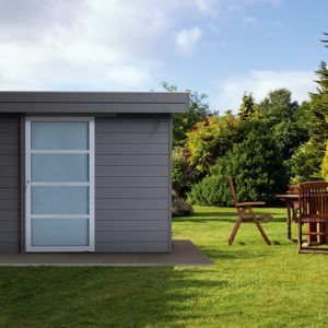 Abri de jardin Reja en composite et de style moderne chez Brin de Jardins à Esvres