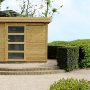 Abri de jardin Vintage en bois et de style moderne chez Brin de Jardins à Esvres