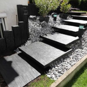 Ardoise pierre naturelle chez Brin de Jardins à Tours